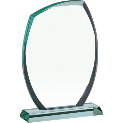 JADE GLASS OVAL PLAQUE AWARD 21.5cm