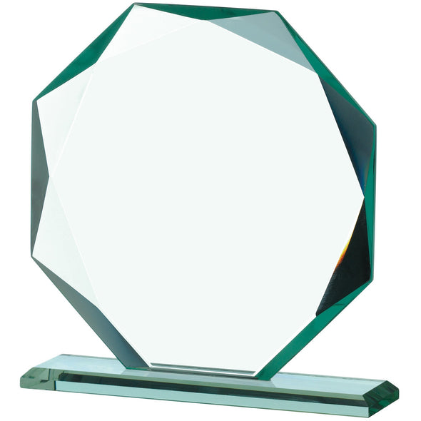 Jade Glass Octagonal Award 14cm