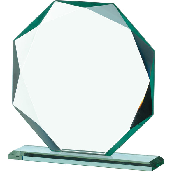 Jade Glass Octagonal Award 16.5cm