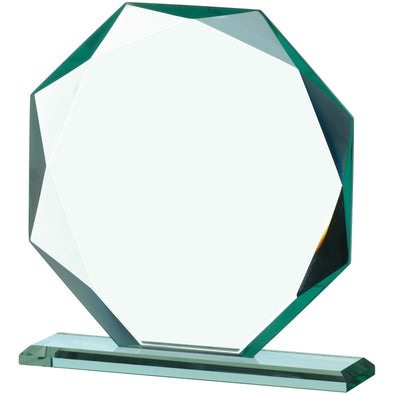 JADE GLASS OCTAGONAL AWARD 19cm