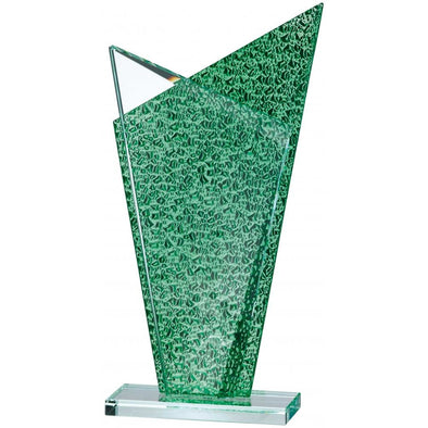 Green Backed Glass Award 23cm