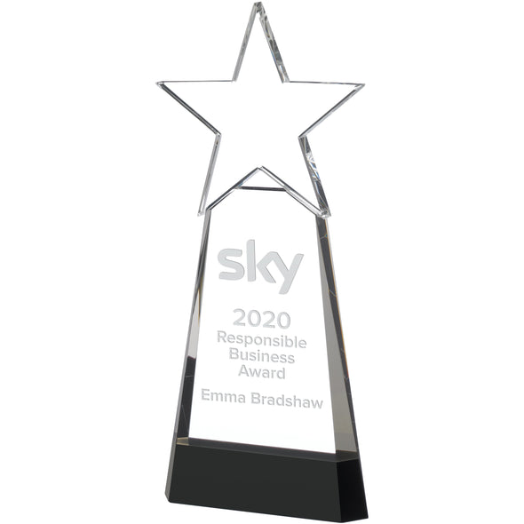Star On Black Base Award 26.5cm