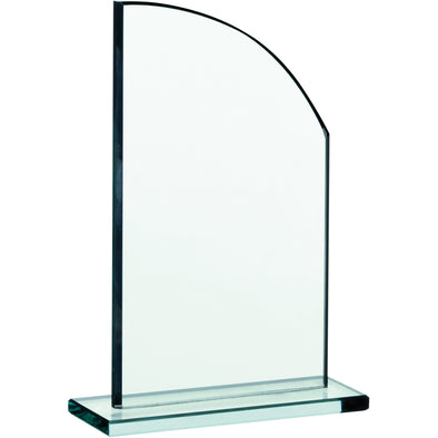 JADE GLASS FIN PLAQUE AWARD 18cm