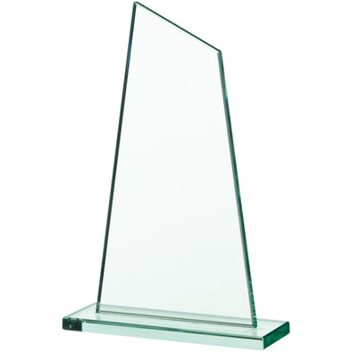 JADE GLASS SAIL PLAQUE AWARD 20.5cm