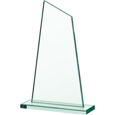 JADE GLASS SAIL PLAQUE AWARD 24cm