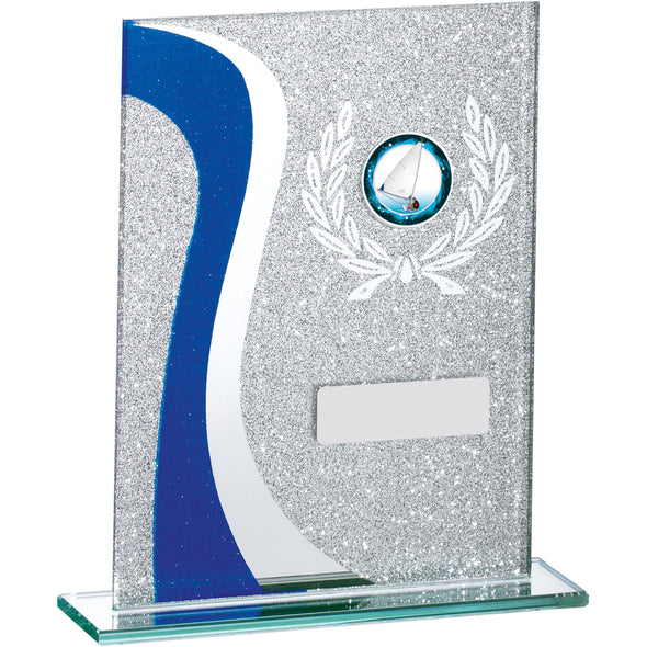 Blue Glitter Glass Award 16.5cm