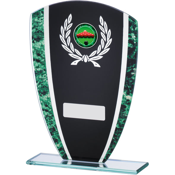 Green Marble Black Glass Award 18.5cm