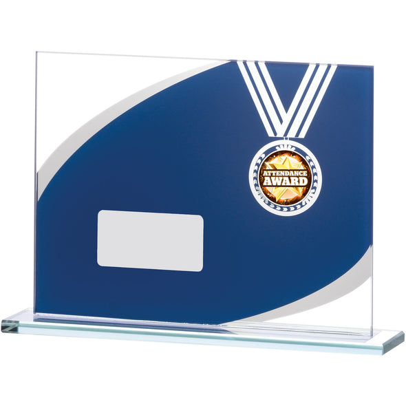 Blue Mirror Glass Award 12cm