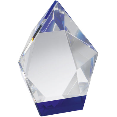 6.5in Blue & Clear Crystal Award (Boxed)