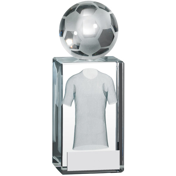 Football Shirt Block With Ball 13cm Trophy