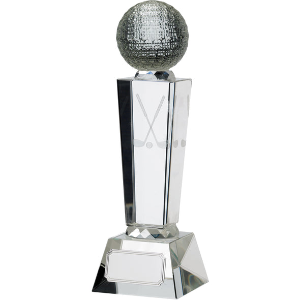 Golf Glass Award With Ball 23cm