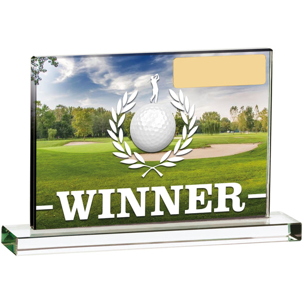 Golf Scene Winner 15cm X 10cm Trophy
