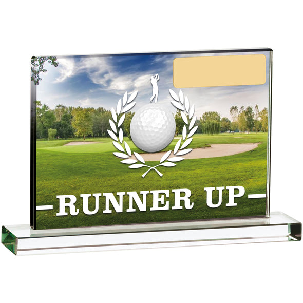 Golf Scene Runner Up 15cm X 10cm Trophy