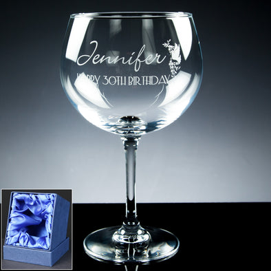 72cl Gin Cocktail Glass, Satin Box (available with engraving)