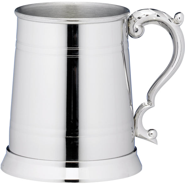 Engraved 1 Pint Classic Lined Stainless Steel Tankard