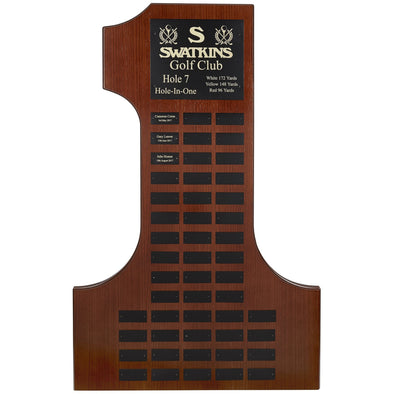 Wall Hanging Number 1 Perpetual Plaque - 36in Height