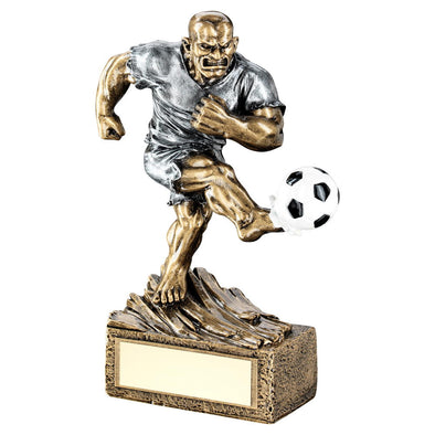 Bronze/Pewter Football 'beasts' Figure Trophy -6.75in