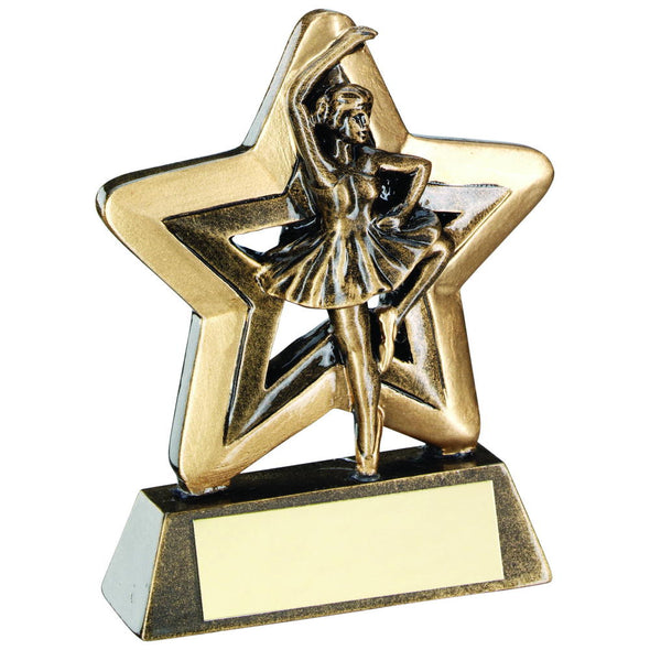 Bronze/Gold Ballet Mini Star Trophy - 3.75in