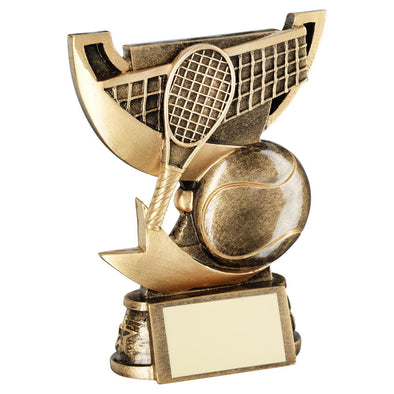 Bronze/Gold Cup Range For Tennis Trophy - 4.25in