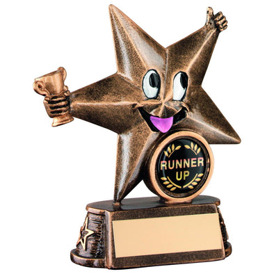 Bronze/Gold Resin Generic 'comic Star' Figure Trophy - (1in Centre) 4.5in