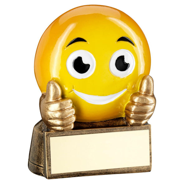 Thumbs Up Emoji Trophy - 2.75in