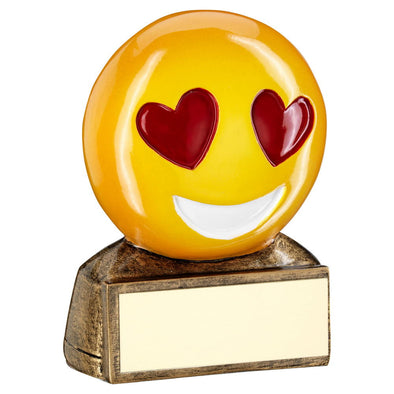 HEART EYES EMOJI TROPHY - 2.75in