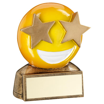 STAR EYES EMOJI TROPHY - 2.75in