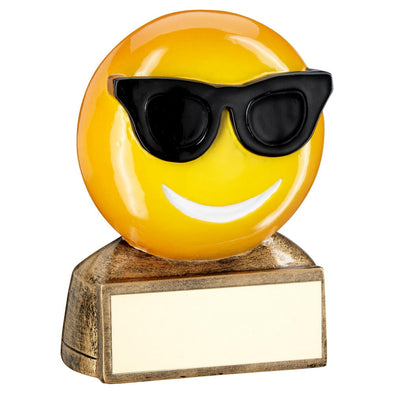 SUNGLASSES EMOJI TROPHY - 2.75in