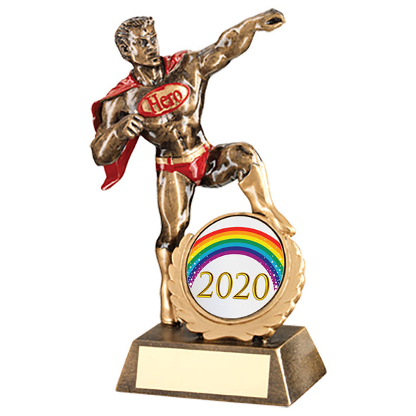 Male 'Hero' Trophy - 7.25in (available with engraving)