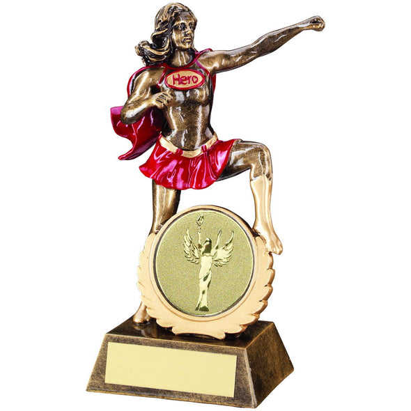 Female 'Hero' Trophy - 7.5in (available with engraving)