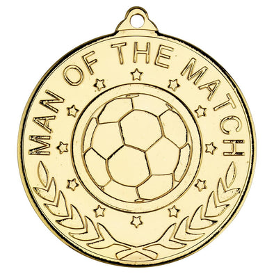 Football 'man Of The Match' Medal (1in Centre) - 2in