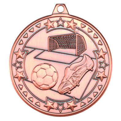 Football 'tri Star' Medal - Bronze 2in