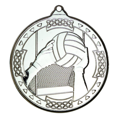 Gaelic Football Celtic Medal - Silver 2in