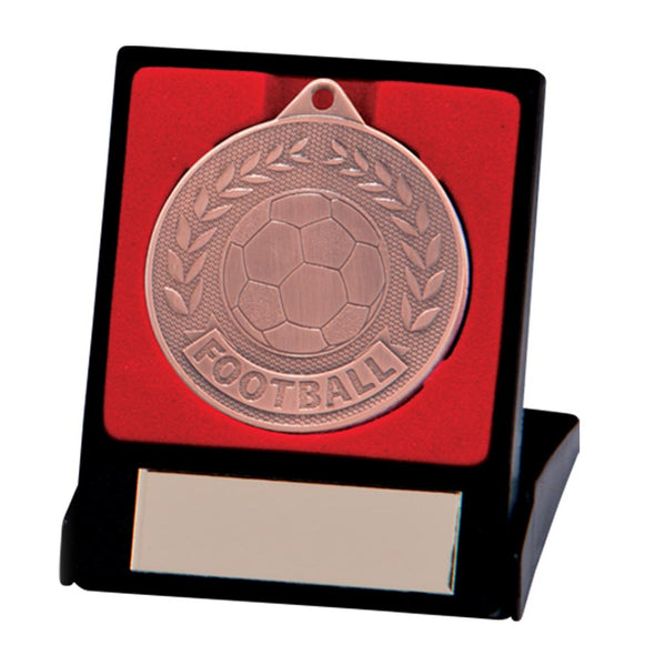 Discovery Football Medal & Box Bronze 50mm