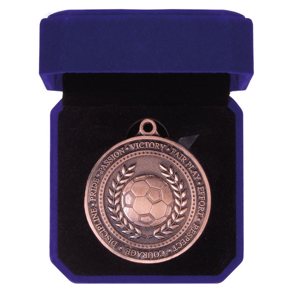 Olympia Football Medal Box Antique Bronze 60mm
