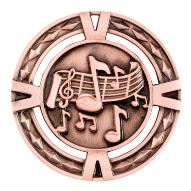 V-Tech Series Medal - Music Bronze 60mm