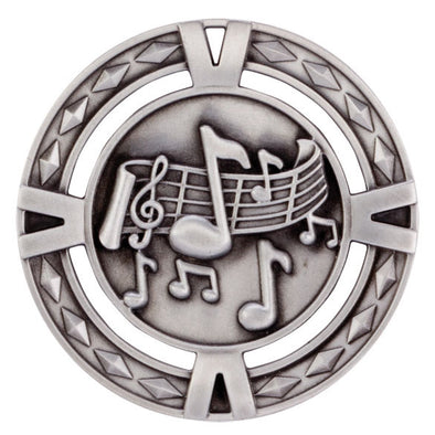 V-Tech Series Medal - Music Silver 60mm