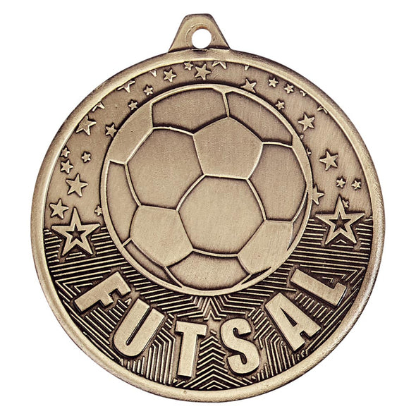 Cascade Futsal Iron Medal Antique Gold 50mm