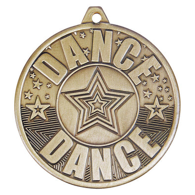 Cascade Dance Iron Medal Antique Gold 50mm
