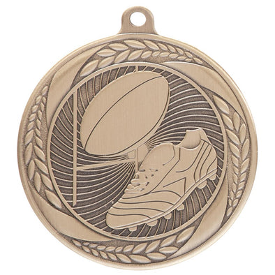 Typhoon Rugby Medal Gold 55mm