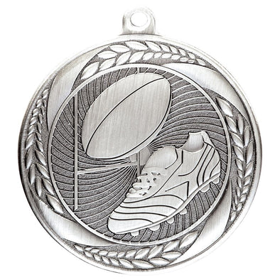 Typhoon Rugby Medal Silver 55mm