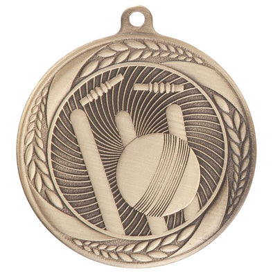 Typhoon Cricket Medal Gold 55mm
