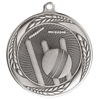 Typhoon Cricket Medal Silver 55mm