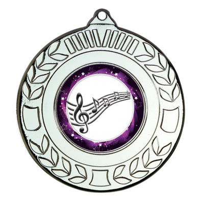 Music Silver Laurel 50mm Medal