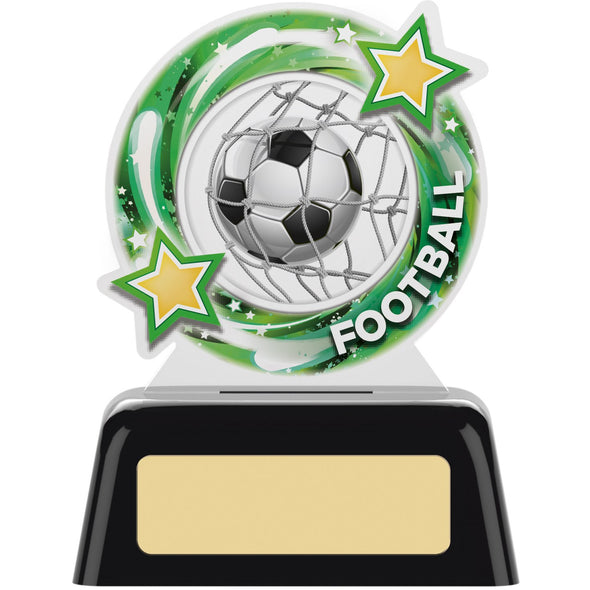 Round Football Acrylic Trophy 10cm