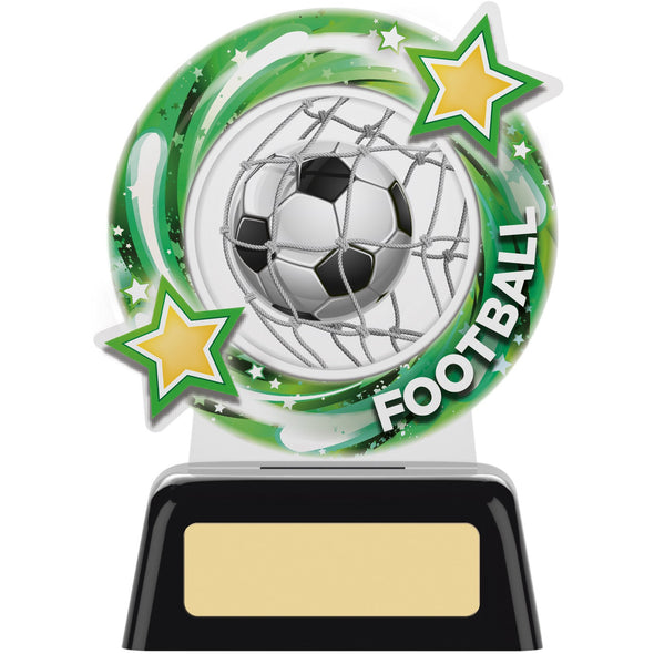 Round Football Acrylic Trophy 11.5cm