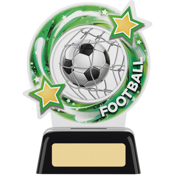 ROUND FOOTBALL ACRYLIC TROPHY 12.5cm