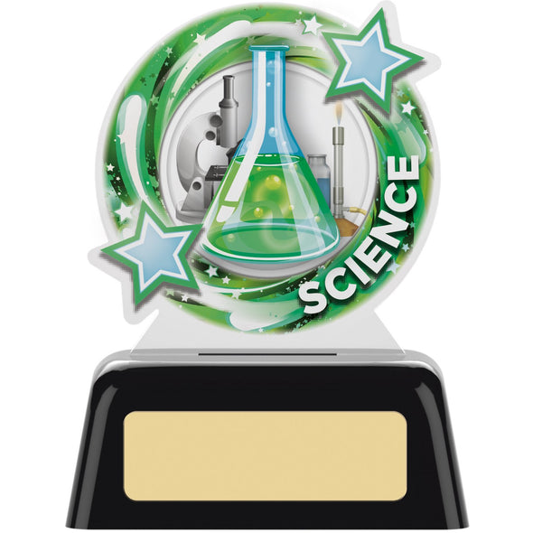 SCIENCE ROUND ACRYLIC AWARD 10cm
