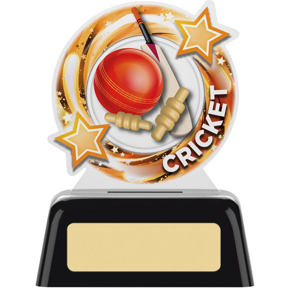 Round Cricket Trophy 10cm