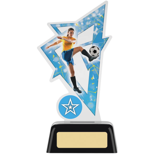 Female Football Acrylic Award 16cm